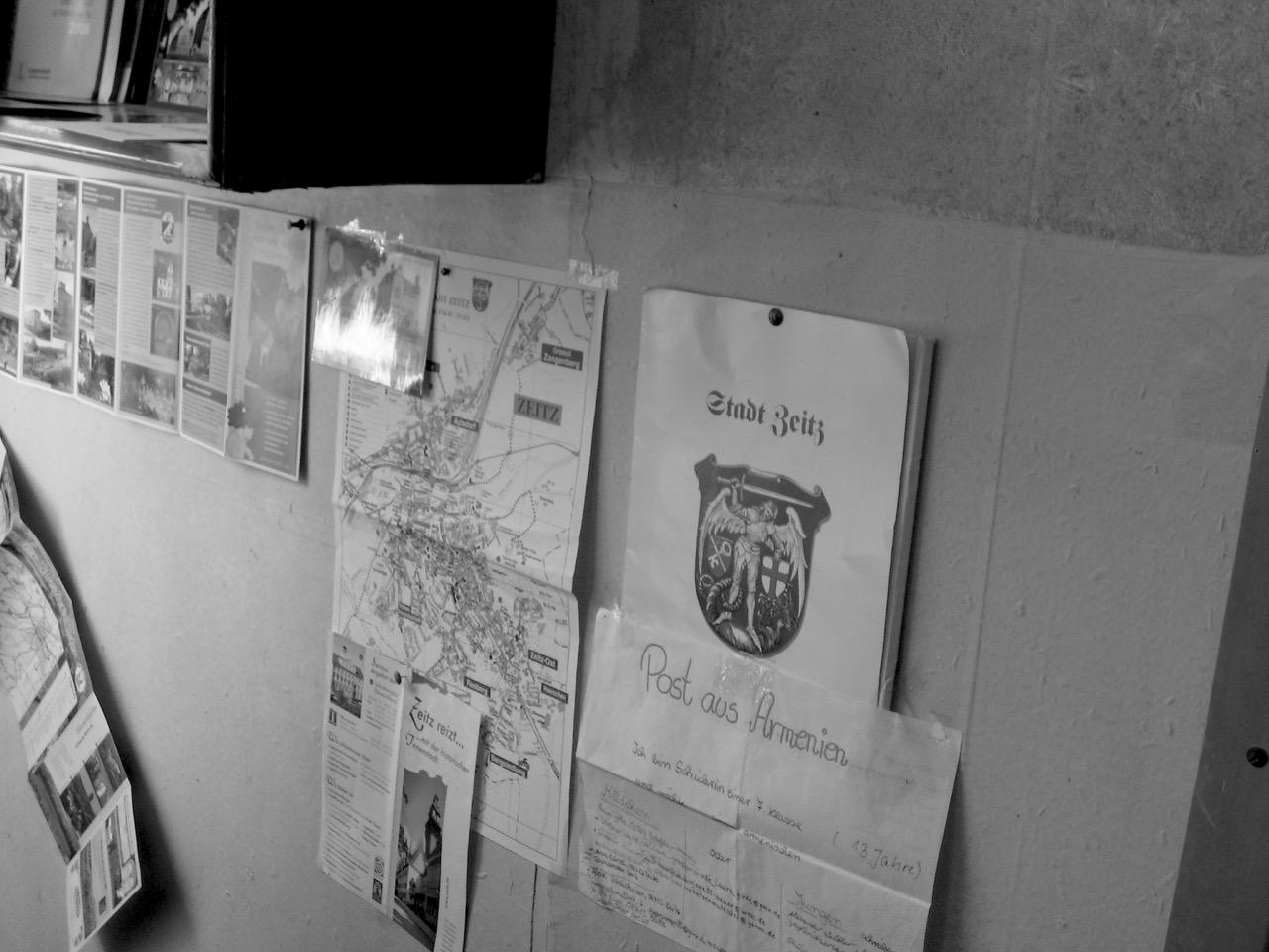 Foto: Stadt Zeitz. Aus: Eriwan. Kapitel 4. Aufzeichnungen aus Armenien von Marc Degens.